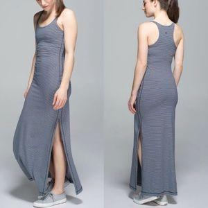 LULULEMON refresh striped maxi dress 8
